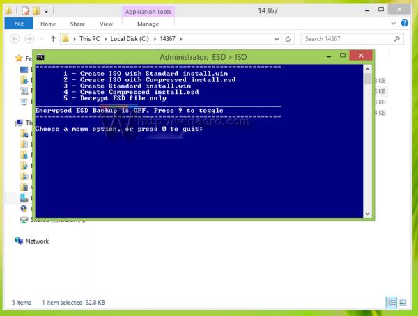 Windows 10 build 14367 decrypter started
