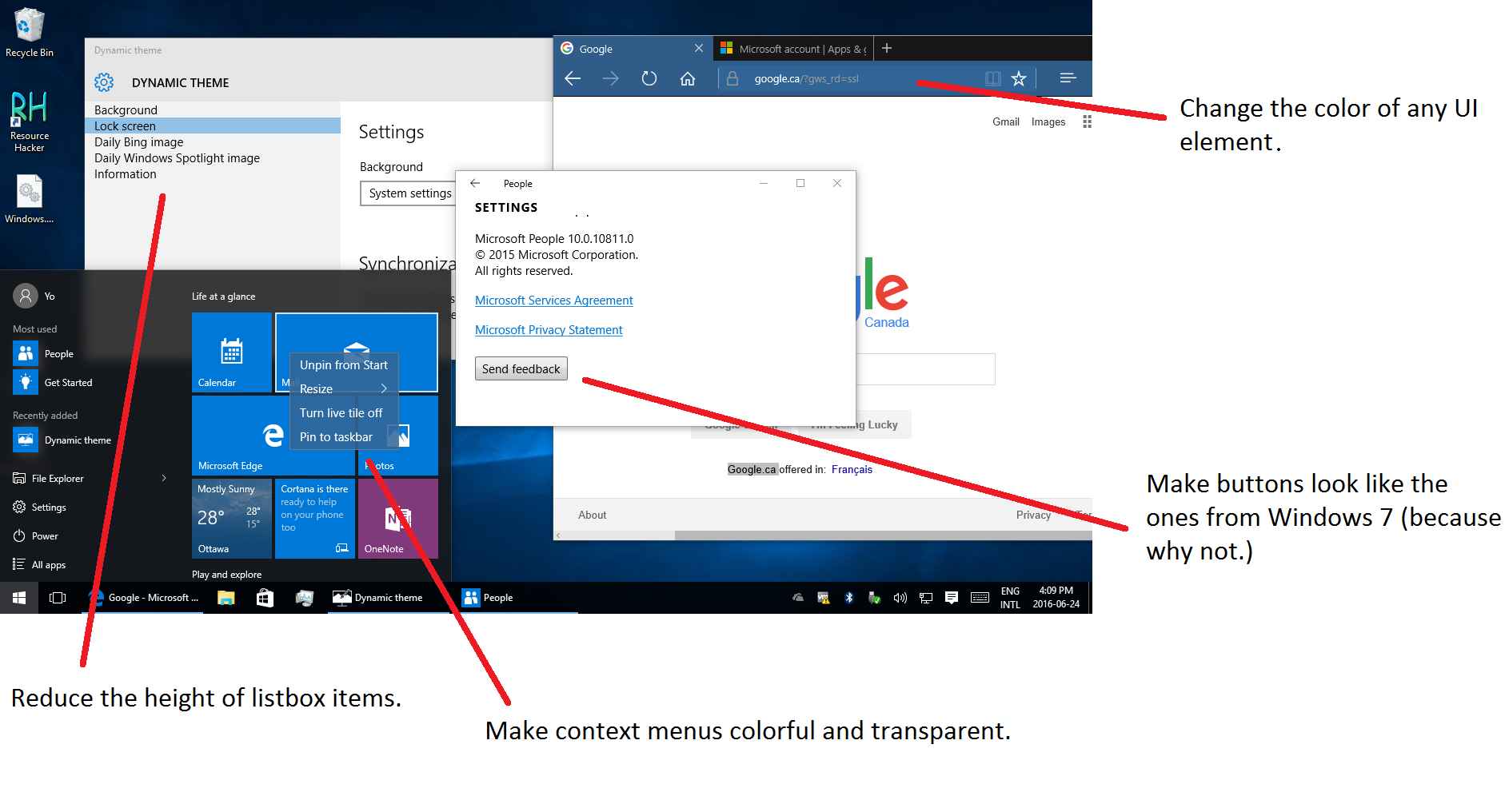 Create a custom theme for universal apps in windows 10 for How to design windows