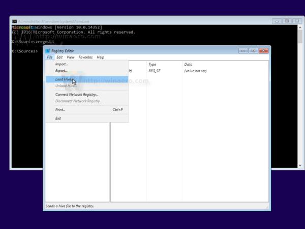 Windows 10 file load hive