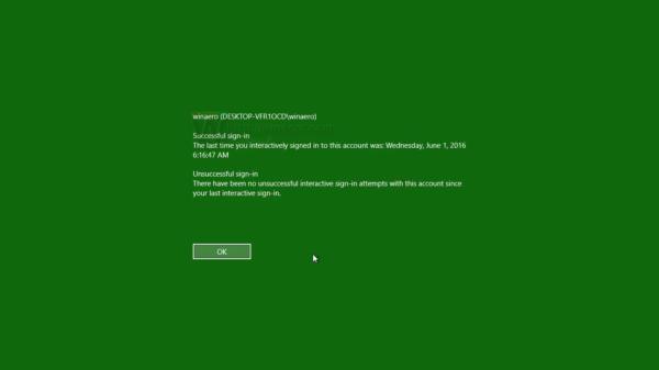 Windows 10 last logon information 2