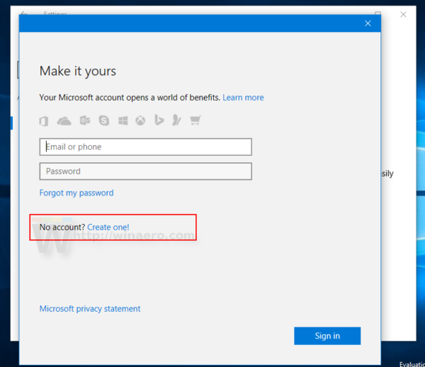 how to make a microsoft account on pc