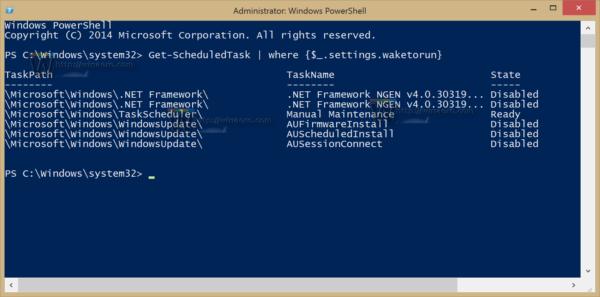 Windows 8.1 wake up tasks