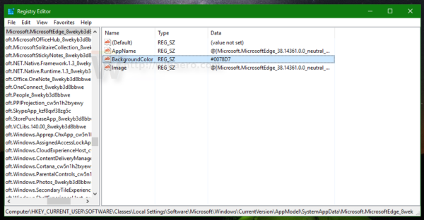 edge registry key background color
