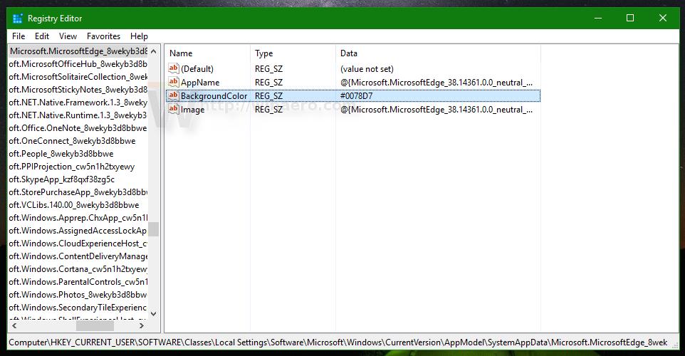 regedit windows 10 background