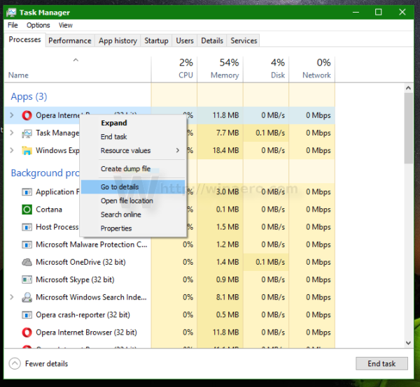 task manager go to details