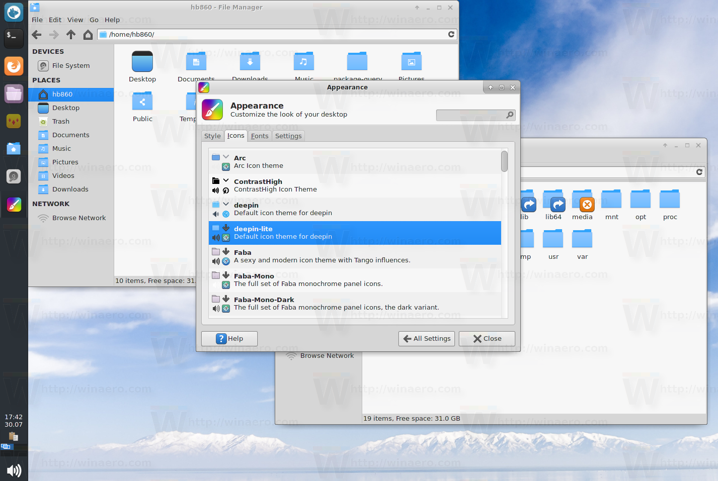 Deepin-lite icon set for Linux