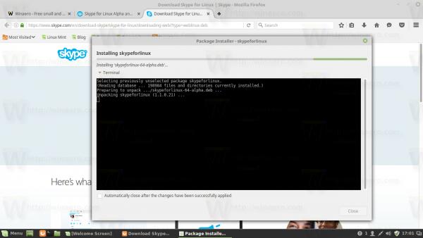 Skype installing