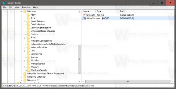 Windows 10 anniversary update disable cortana