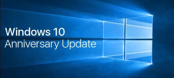 Windows 10 anniversary update logo banner