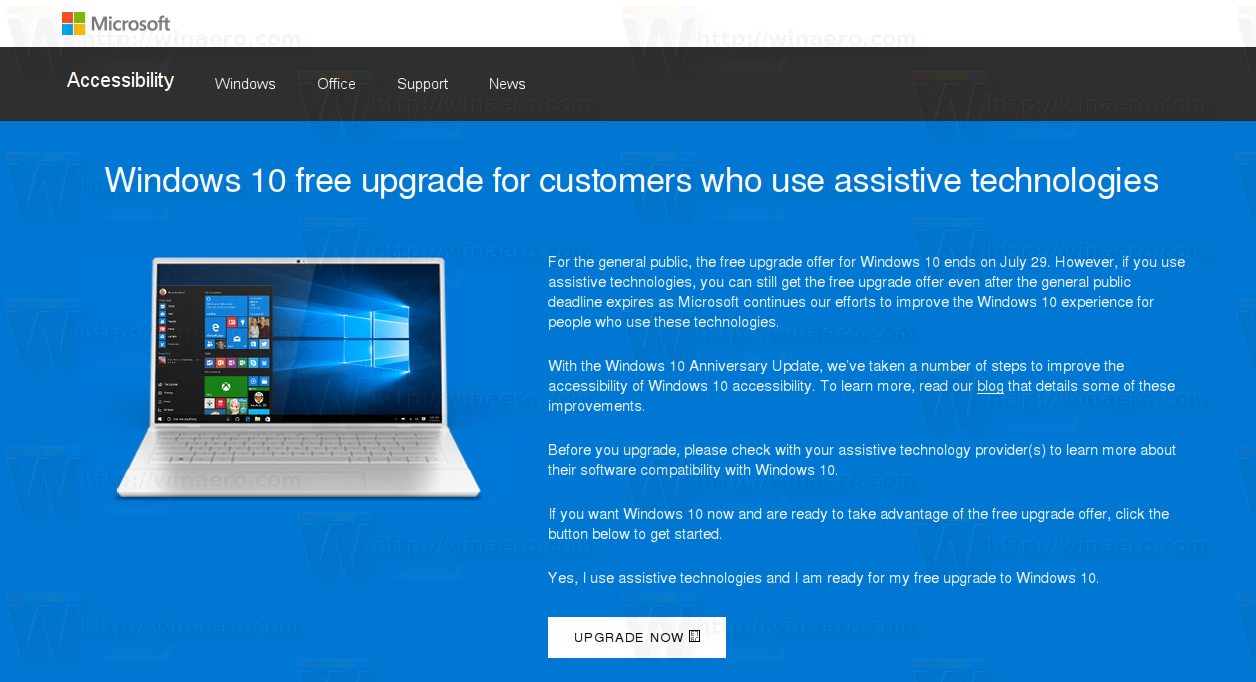 You can still easily get windows 10 for free after july 29 for Windows 10 site