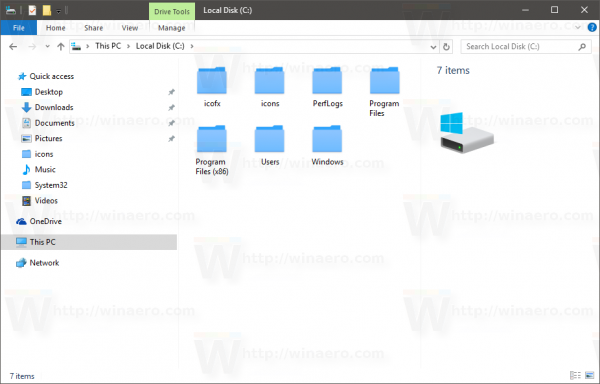 Windows 10 change folder icon with ico file