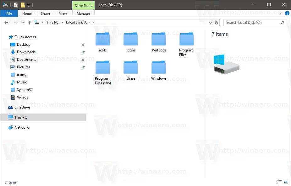Change Windows 10 folder icons with * ico file