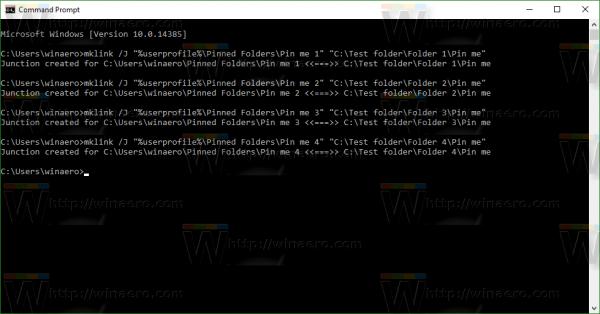 Windows 10 create symbolic links