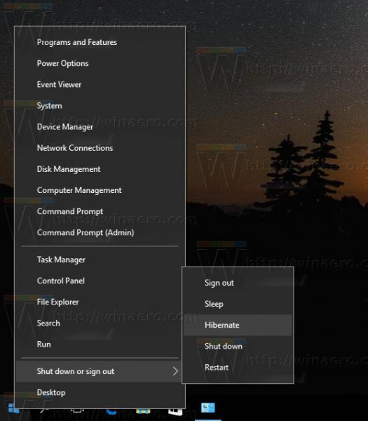 Windows 10 hibernate option 1