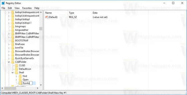 Windows 10 install cab create key 1