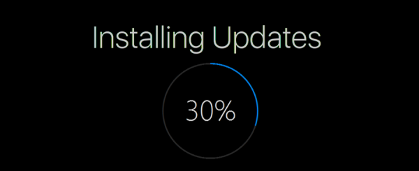 Windows 10 install update banner