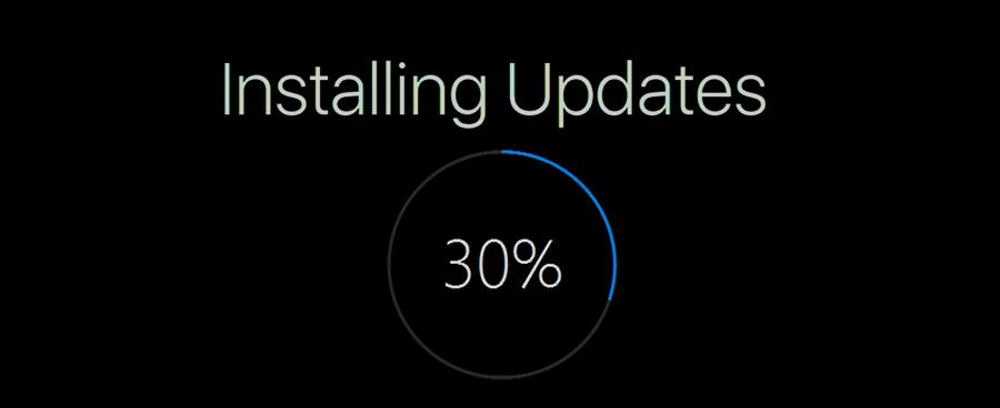 Windows 10 install update banner