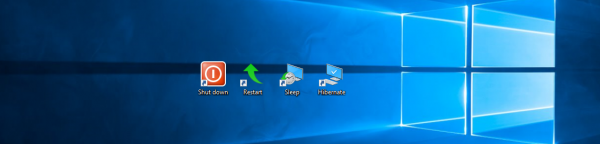 Windows 10 power shortcut banner