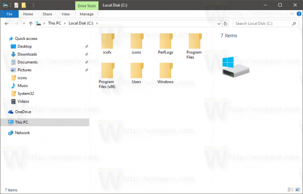Windows 10 pre-release icons folder