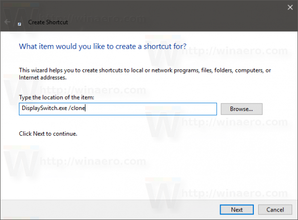 Windows 10 project mode shortcut