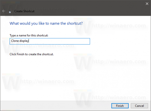 Windows 10 project mode shortcut name