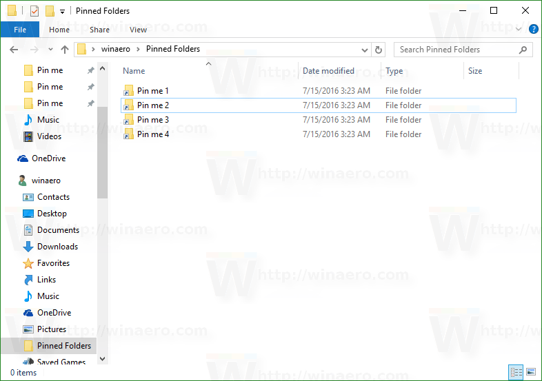 Rename Quick Access Pinned Folders In Windows 10