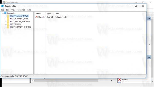 Windows 10 task started