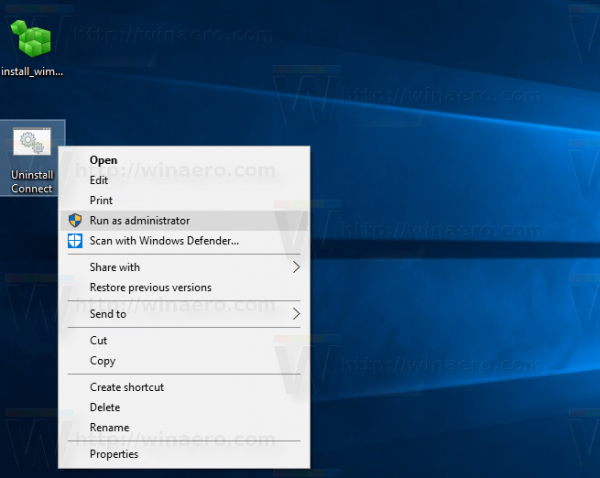 Windows 19 uninstall connect app