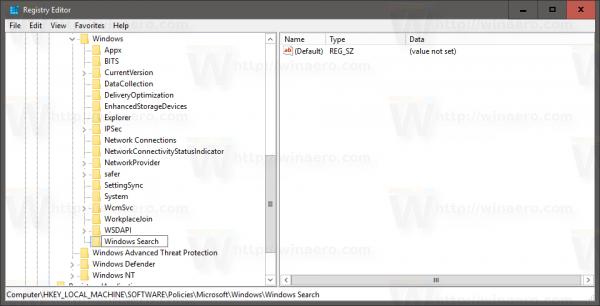create windows search key