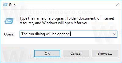 run dialog paste text