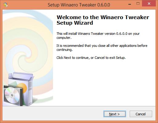 tweaker setup wizard 1