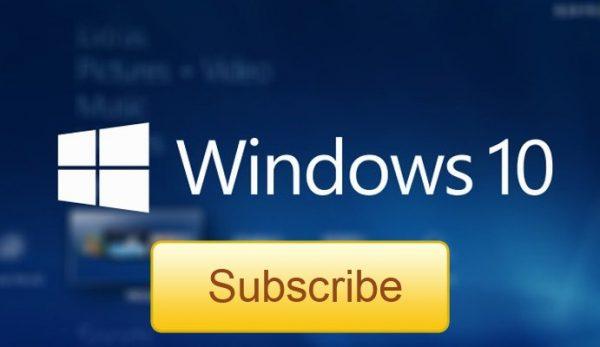 windows 10 subscription subscribe logo banner