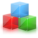 3d cubes block device icon