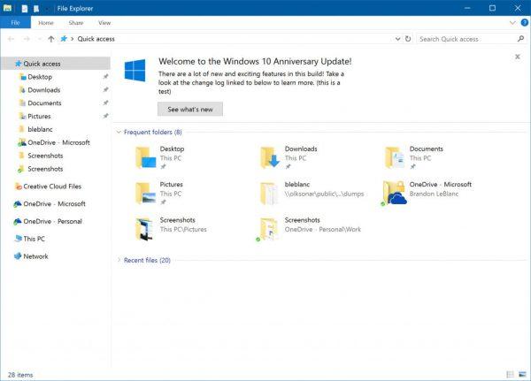 File Explorer 14901