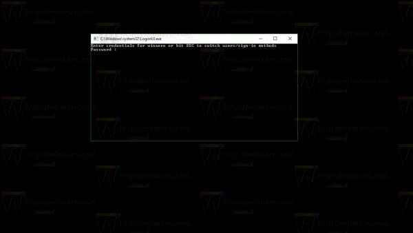 Windows 10 console login mode