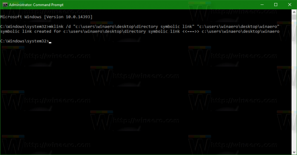Windows 10 create directory symbolic link