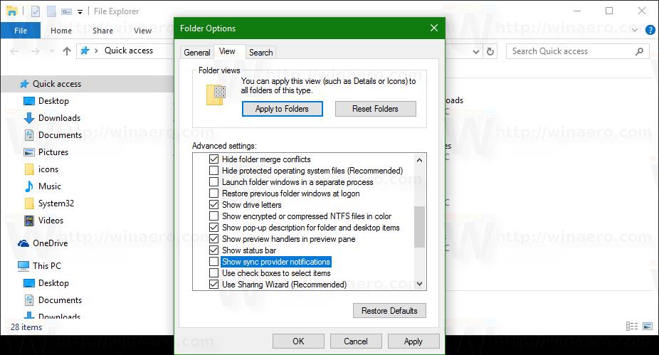 disable pop up descriptions windows 10