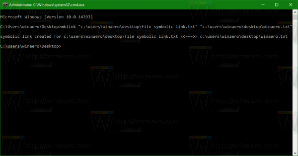 Windows 10 file symbolic link command