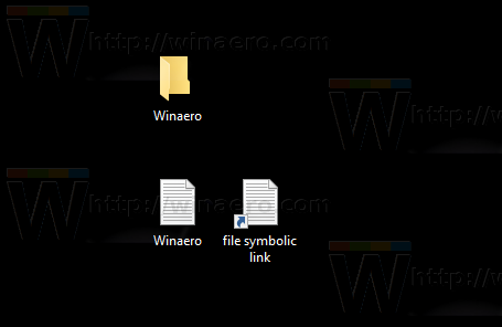Windows 10 file symbolic link