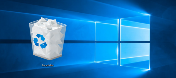 Windows 10 recycle bin logo banner