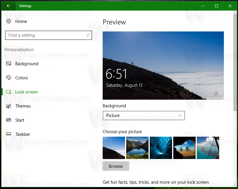 how to set screen size in windows 10