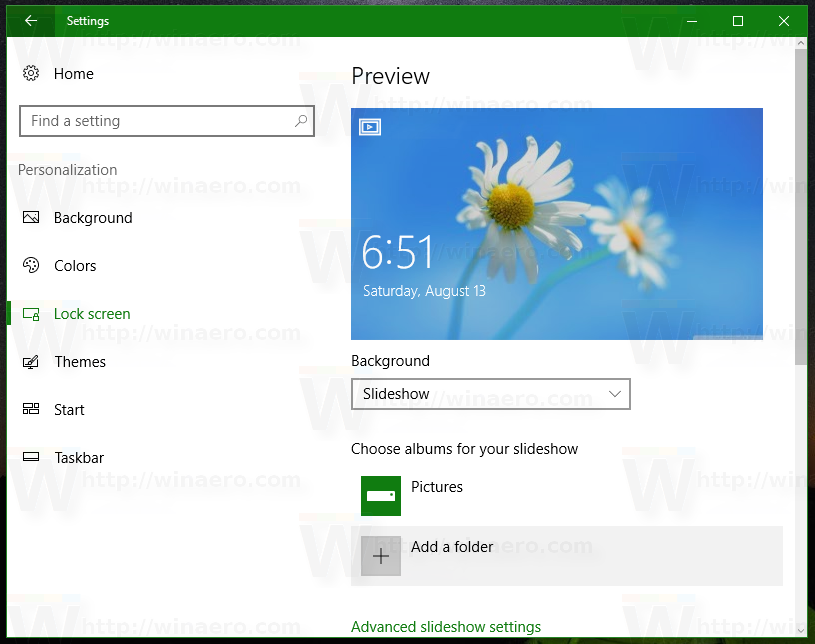 Change Lock Screen Slideshow Duration in Windows 10