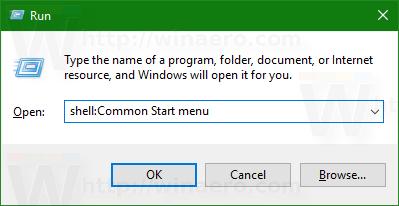 Windows 10 shell Common Start menu