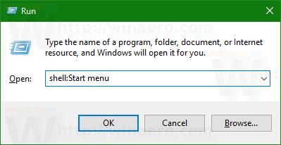 Windows 10 shell Start menu