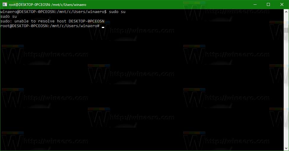 Fix unable to resolve host error in Bash on Ubuntu in Windows 10