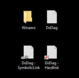 file symlink created