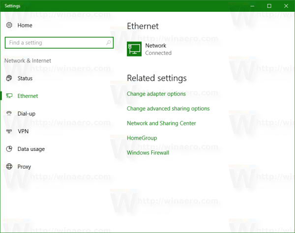 network name in settings