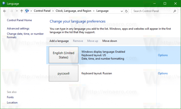 language-applet-in-windows-10-control-panel