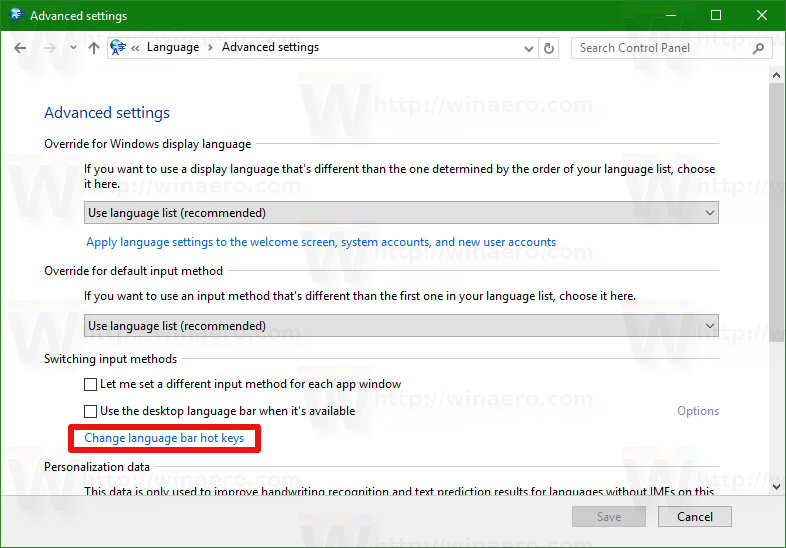 windows 10 how to set default keyboard