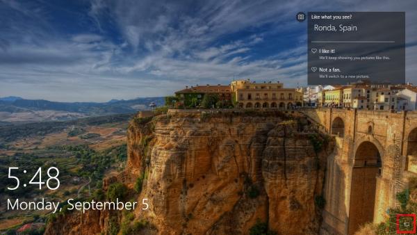 Windows 10 lockscreen default_network icon